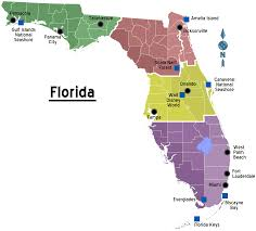 Southern Florida Map by Florida Regions Map With Cities U2022 Mapsof Net