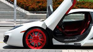 custom mclaren mp4 12c mclaren mp4 12c on red adv 1 wheels youtube