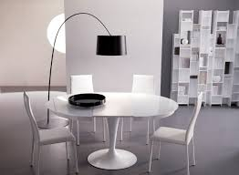 arc floor l dining room white round modern dining table sougi me