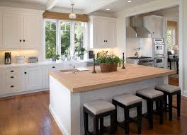 shaker kitchen island splashy butcher block vogue santa barbara modern kitchen