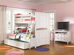 White Twin Over Full Bunk Bed With Stairs Next Generation By Magnussen Kenley Twin Lounge Bed With Bookcase