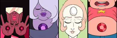 steven universe halloween background garnet amethyst and pearl and steven by ayayue on deviantart