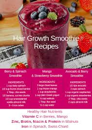 Hair Loss Vitamin Deficiency Healthy Hair Growth Smoothies You Should Try Viviscal Hair Tips