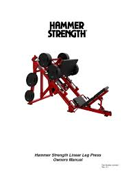 hammer strength linear leg press manuals users guides