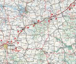 Original Route 66 Map by Interstate Guide Interstate 44