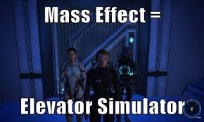 Funny Mass Effect Memes - mass effect elevator simulator cheezburger funny memes