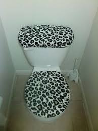 Cheetah Print Bathroom by Cheetah Print Fleece Fabric Toilet Seat Cover Bathroom Accessories