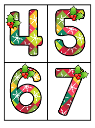 free set of large numbers 0 20 with a christmas theme 4