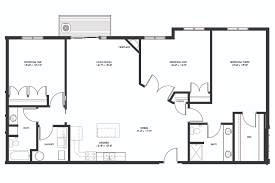 3 Bed 2 Bath Floor Plans by 3 Bed 2 Bath The Bluffs At Willow Run
