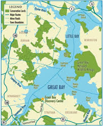 map of ta bay great bay map nh me