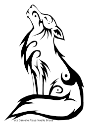 tribal stag tattoo tribal howling wolf by passionatepaints on deviantart 1