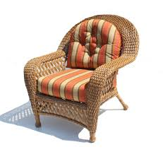 Wicker Patio Furniture Cushions Decor Tips Alluring Rattan Wicker Patio Chair With Orange