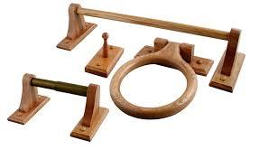 ldr 165 9860 18 inch rustic oak towel bar oak wood towel rack
