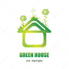 conceptmodern green house vector logo eco house icon green energy concept