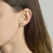 grande earrings yellow gold brillante stud earrings grande paolo costagli