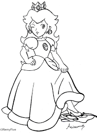 princess peach coloring pages ffftp net
