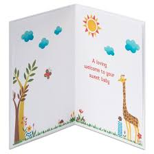 baby card papyrus jungle print new baby congratulations card target