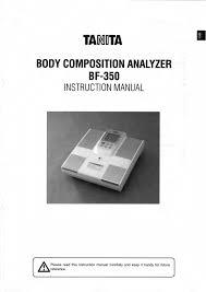 tanita scales body composition analyzer bf 350 pdf user u0027s manual