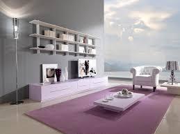 purple living room walls brown sofa feat wooden table on rug living room purple room walls brown sofa feat wooden table on rug furnished solid oak