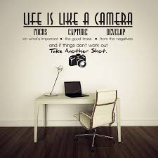 life is like a camera vinyl wall lettering quotes sayings zoom