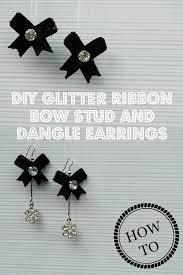 make dangle earrings how to make diy glitter ribbon bow stud and dangle earrings diy