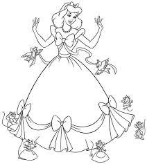 free cinderella coloring pages princess cinderella color pages
