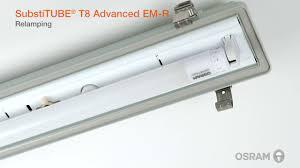 rewire fluorescent light for led installation guide for osram substitube t8 led tubes youtube