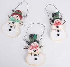 wooden snowman ornament ornaments and