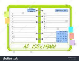 january 2017 calendar template monthly planner stock vector