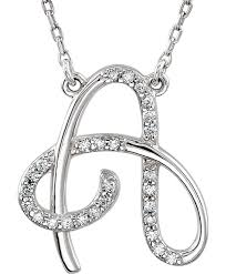 diamond style necklace images Diamond alphabet initial letter necklaces a to z boomer style jpg