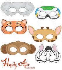 jungle animal mask templates 28 images 5 best images of