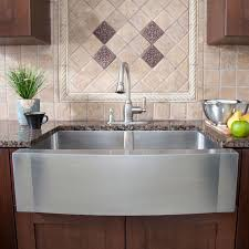 Stainless Steel Farmhouse Sink In Kitchen Contemporary With Farm - Sink in kitchen