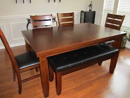 wooden bench style dining table bench decoration