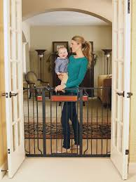 Child Gate Stairs by Baby Gate Walk Through Stairs Child Infant Pet Dog Safety Lock
