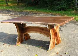 Natural Slab Dining Table Custom Slab Walnut Dining Table Turquoise Inlaid By Haymore