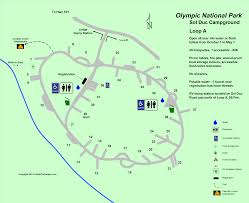 Acadia National Park Map Sol Duc Campground Map Olympic National Park
