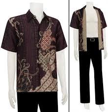desain baju batik pria 2014 foto model baju batik pria kencana ungu batik keris