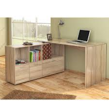 bureau en u bureau d u0027angle bureau multimédia de couleur chêne de
