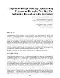 design thinking graduate programs ergonomic design thinking approaching pdf download available