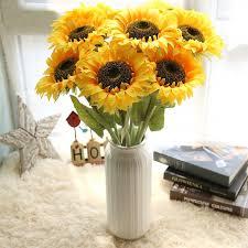 fake flowers for home decor 1 bouquet artificial flowers vivid festival sunflowers women