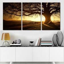 Amazon Wall Murals Amazon Com H Cozy 3 Zhang Printed Canvas Modern Painting Tree