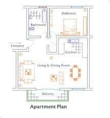 One Bedroom Apartment Layout by Apartment Room Builder With Ideas