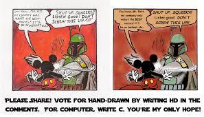 Boba Fett Meme - boba fett slapping mickey mouse batman meme style by 0 pioterek 0