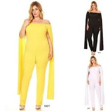 one jumpsuit plus size plus size jumpsuit strapless drape shoulder bodycon one