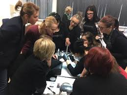 nail art class with albina garcia magnetic nail academy