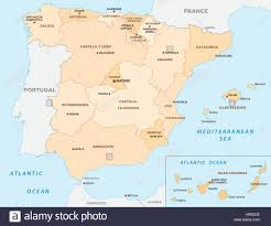 Pais Vasco Map Administrative And Political Vector Map Of The Spanish Balearic