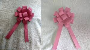 flower bow diy easy paper bow gift wrap how to make paper flower bow