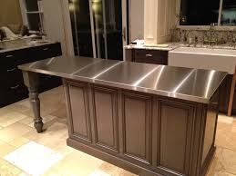 Stainless Kitchen Islands by Countertops Dark Brown Kitchen Island And Stone Tile Floors