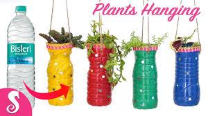 waste bottle reusing make plants hanging for gardening home
