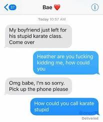 Karate Memes - dopl3r com memes 37 bae today 1057 am my boyfriend just left